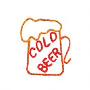 Red/Orange Cold Beer Sign Made From 13mm Duralight
